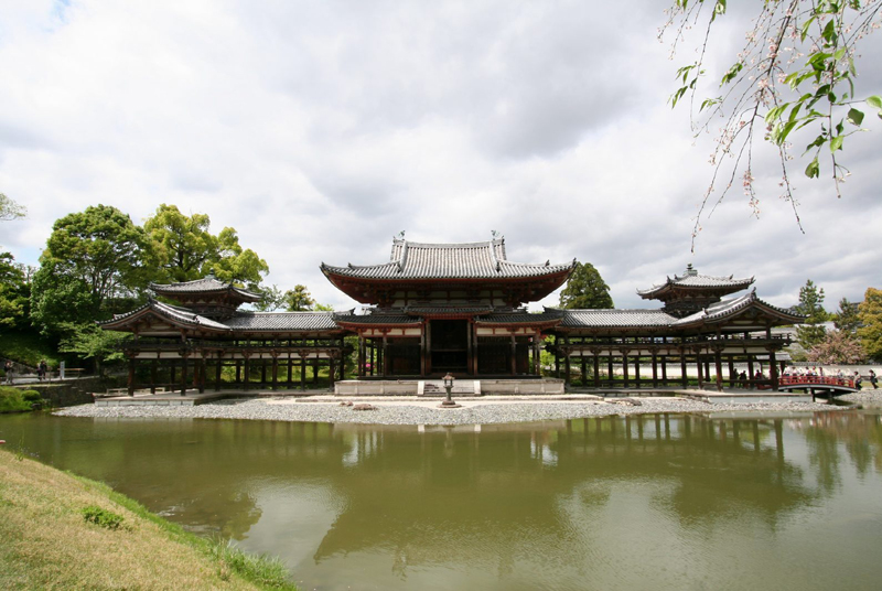 covered galleries of Byodoin Temple, Japan