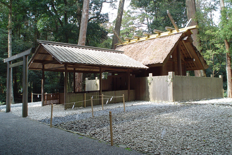 Graveled area at territory of the Ise Shrine, Japan