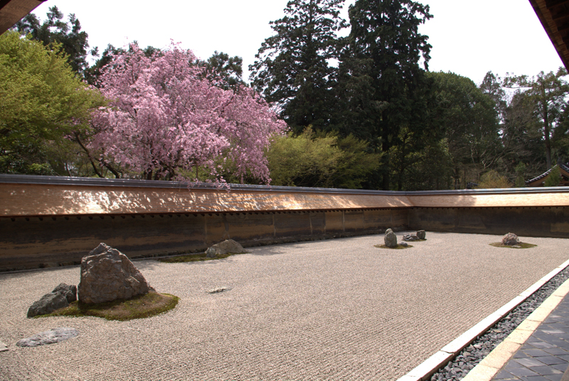 Rock garden, Ryoan-ji Temple, Japan